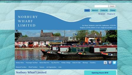 image of the Norbury Wharf website