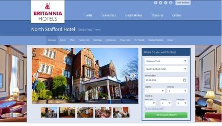 image of the North Stafford Hotel website
