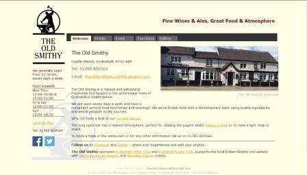 image of the Old Smithy website
