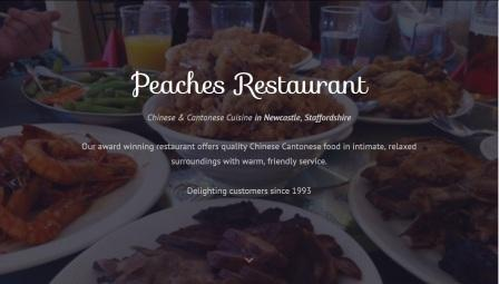 image of the Peaches website