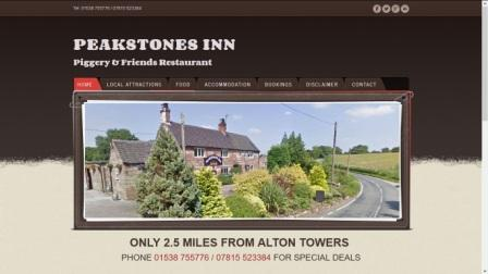 image of the Peakstones Inn website