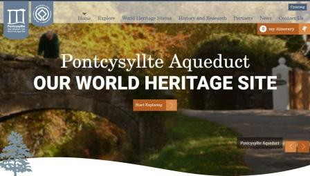 image of the Pontcysyllte website