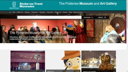 image of the Potteries Museum website