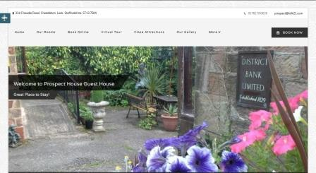 image of the Prospect House website