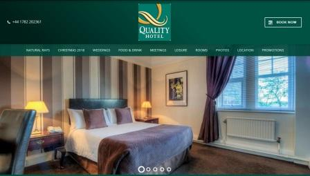 image of the Quality Inn Stoke website