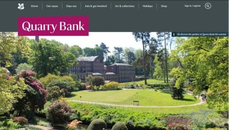 image of the Quarry Bank Mill website