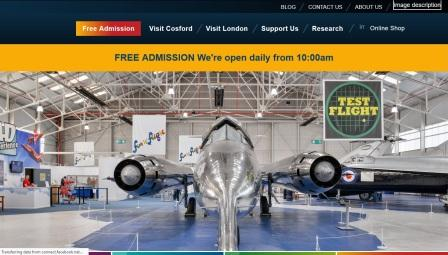 image of the RAF Museum Cosford website