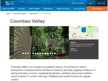 image of the Coombes Valley website