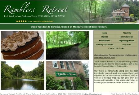 image of the Ramblers Retreat website