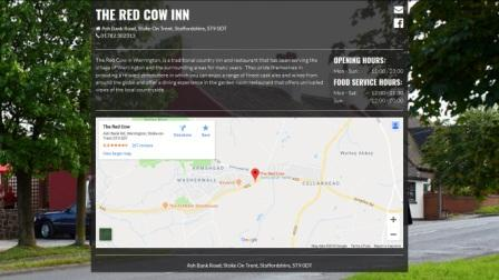 image of the Red Cow website