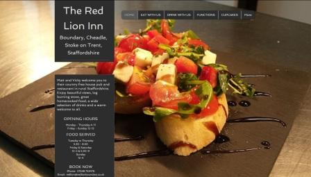 image of the Red Lion website