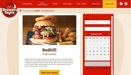 image of the Redhill Brewers Fayre website