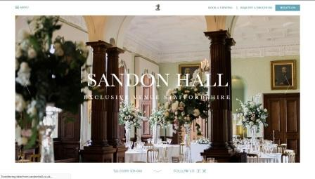 image of the Sandon Hall website