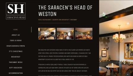 image of the Saracens Head   website