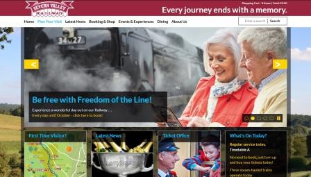 image of the Severn Valley Railway website