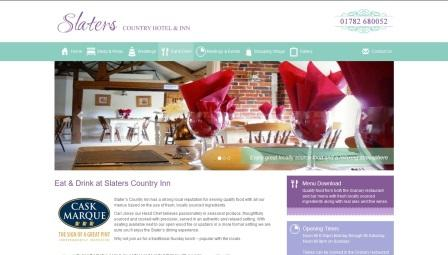 image of the Slater's Country Hotel website