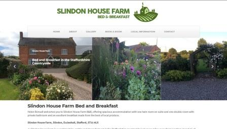 image of the Slindon House website