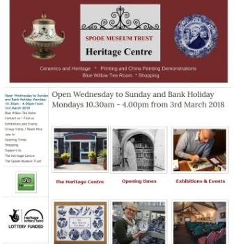 image of the spode website