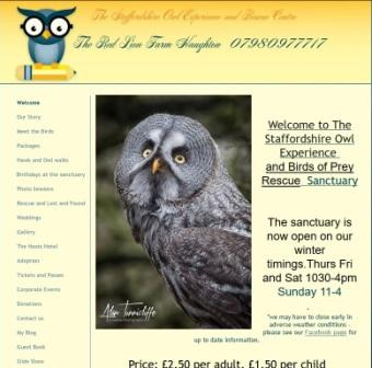 image of the staffordshire owl trust website