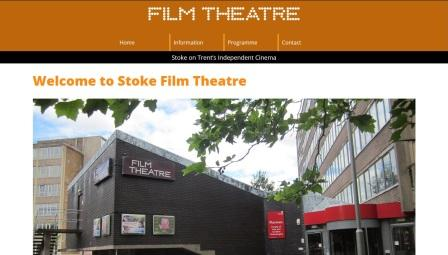image of the Stoke Film Theatre website