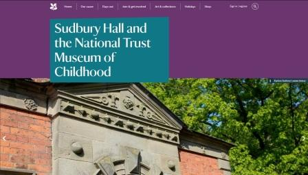 image of the Sudbury Hall website page