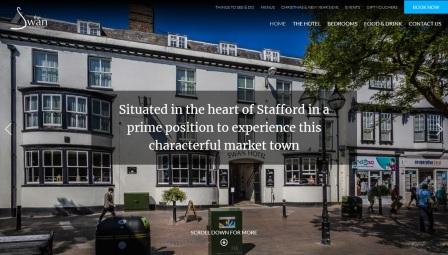 image of the Swan Hotel website