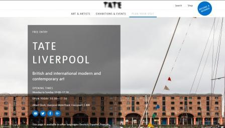 image of the Tate Liverpool website