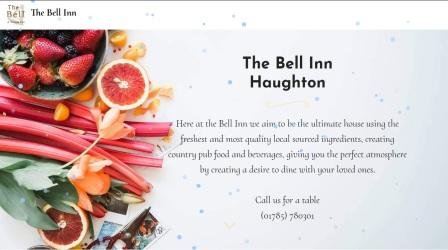 image of the Bell Inn  website