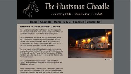image of the Huntsman website
