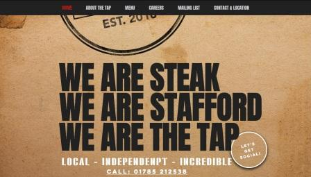 image of the Tap Steakhouse website