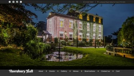 image of the Thornbury Hall website