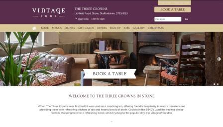 image of the Three Crowns website