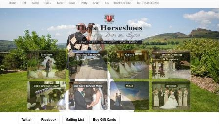 image of the Three Horse Shoes website