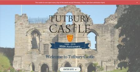 image of the Tutbury Castle website