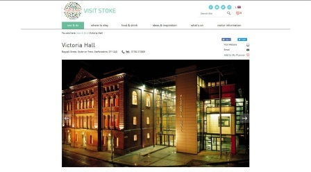 image of the Victoria Hall website