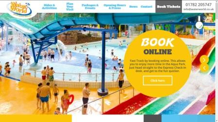 image of the WaterWorld website