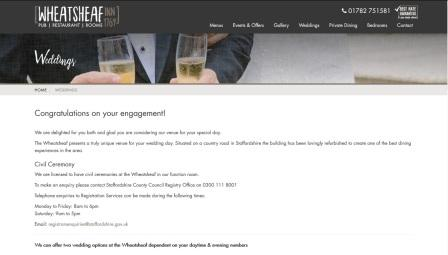 image of the Sugnall Hall website
