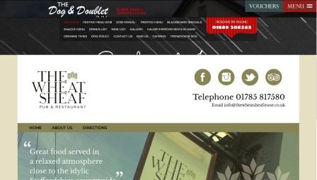 image of the Wheatsheaf website