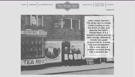 image of the White Hart website