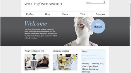 image of the World of Wedgwood website