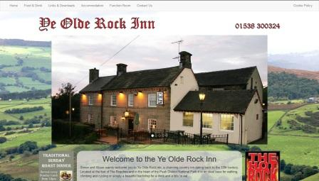 image of the Ye Olde Rock Inn website