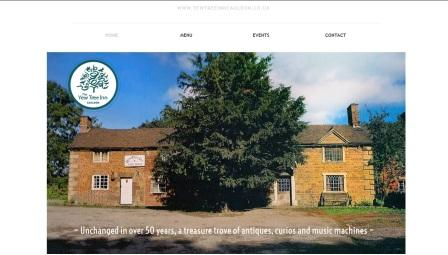 image of the Yew Tree Inn website