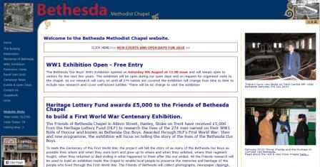 image of the bethesda chapel website