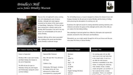 image of the Brindley's Mill website