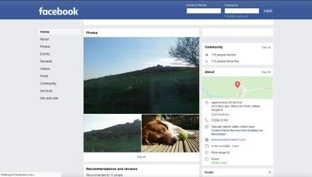 image of the Hazel Barrow Farm website