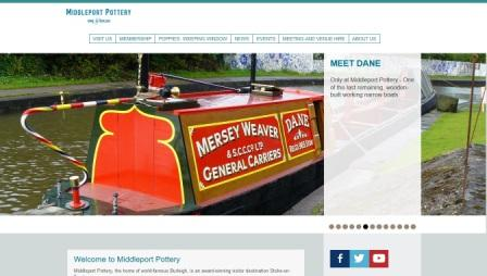image of the middleport pottery website