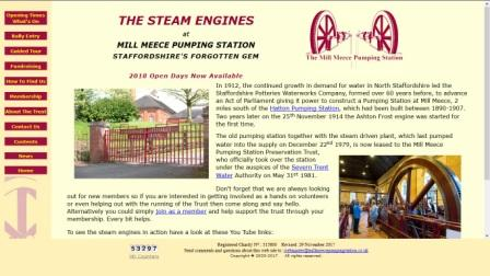 image of the mill meece pumping station website