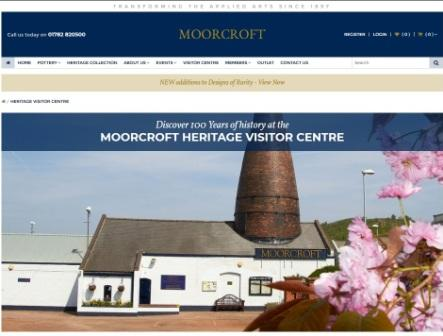 image of the moorcroft website