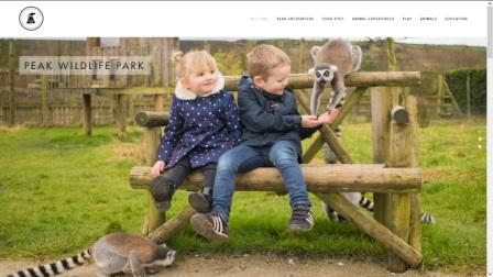 image of the peak wildlife park website