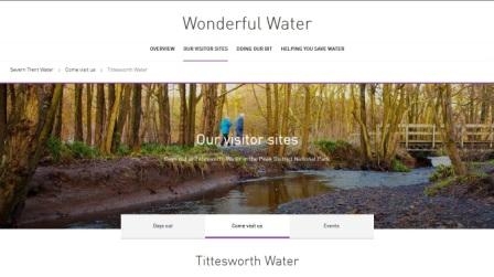 image of the Tittesworth Water website
